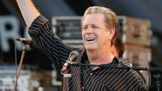 BERLIN - JULY 2: Brian Wilson performs at the Live8 concert July 2, 2005 in central Berlin. The free concert is one of ten simultaneous international gigs including Philadelphia, Berlin, Paris, London, Barrie, Tokyo, Cornwall, Moscow and Johannesburg. The concerts precede the G8 summit (July 6-8) to raise awareness for MAKEpovertyHISTORY. (Photo by Andreas Rentz/Getty Images) *** Local Caption *** Brian Wilson